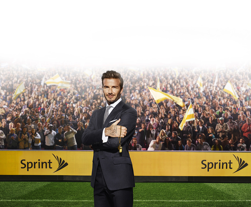 Love Retouch - Advertising - Sprint: David Beckham : Alan Clarke